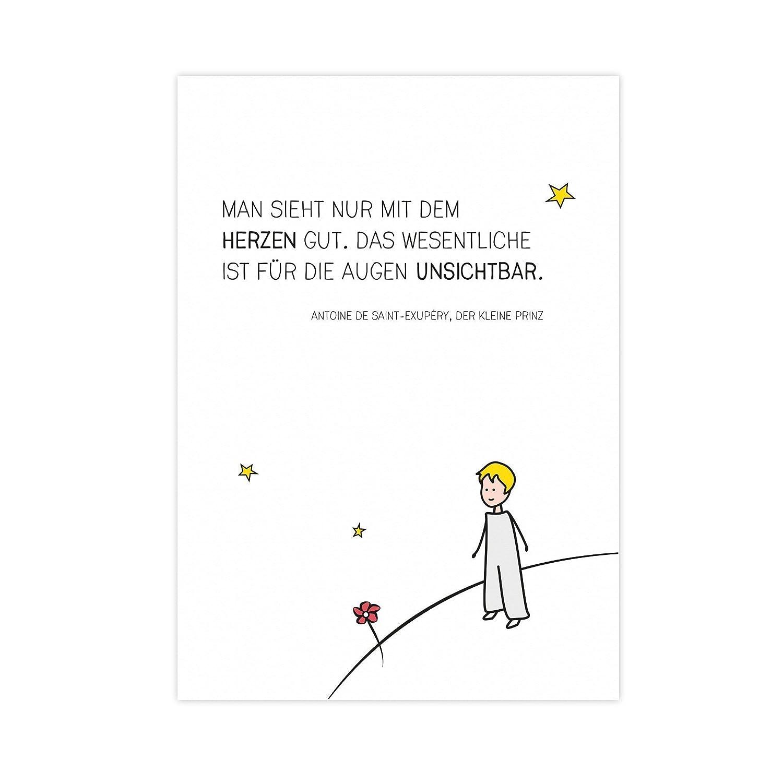 Der kleine Prinz - Kunstdruck auf wunderbarem HahnemühlePapier DIN ...