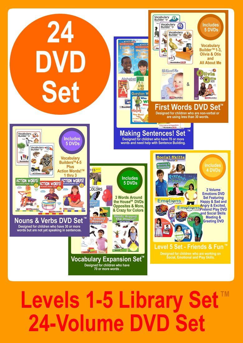 Amazon com: BumbleBee Kids Library Set - 24 DVDs, Includes the