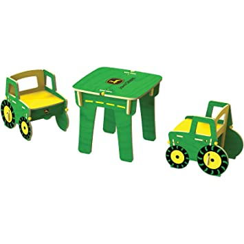 Buildex JD Harvest Table and Chairs Toy Set  sc 1 st  Amazon.com & Amazon.com : Buildex JD Harvest Table and Chairs Toy Set : Baby