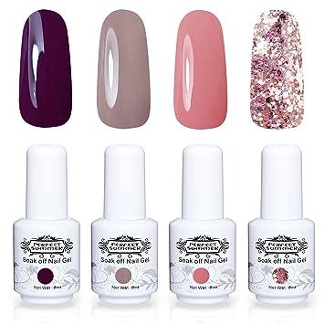 Perfect Summer Semi-permanent Gel Nail Polish Set 4PCS Multi Colours ...