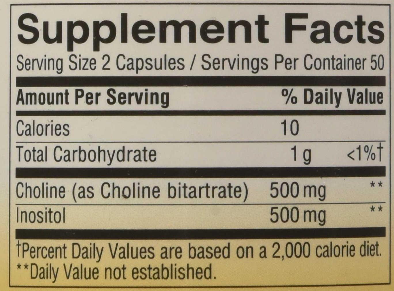 Nature's Way Choline and Inositol, 500mg, 100 Capsules by Nature's Way (Image #2)