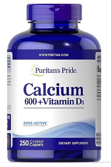 Puritan S Pride Calcium Carbonate 600 Mg Vitamin D 125 Iu 250 Tablets
