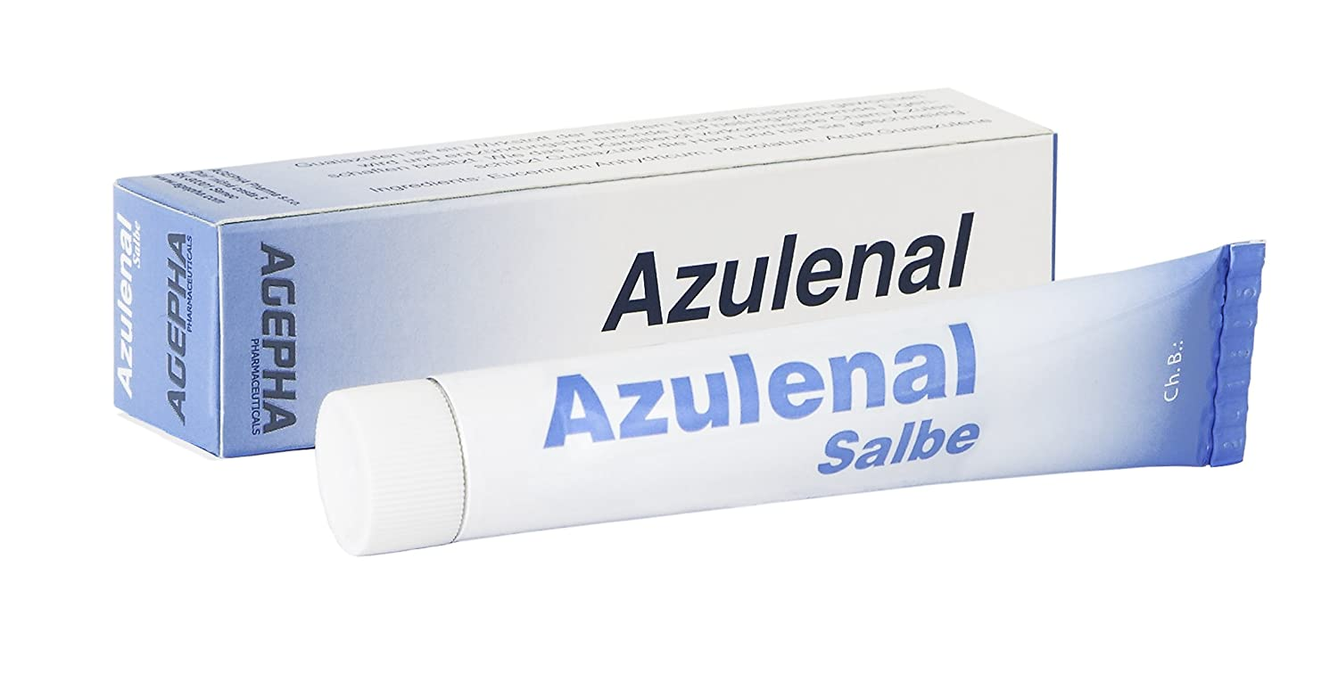 Azulenal Ointment with Guaiazulene, Multipurpose Cream for Rashes, Itching, Cuts, Burns, Wound Repairs & Sore Nipples, Suitable for use for Babies and Mothers AGEPHA Pharma