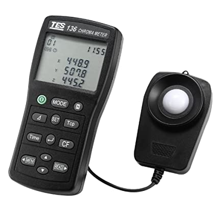TES 136 CHROMA METER/LIGHT METER/COLOR TEMPERATURE METER: Amazon co