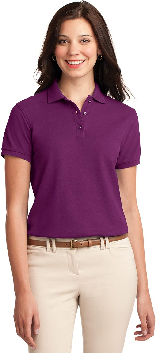 Port Authority Ladies Silk Touch Polo. L500 at  Women's Clothing store