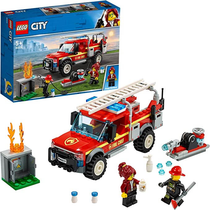 LEGO 60231 City Town Fire Chief Response Truck Set with Fire Engine and Water Cannon, Toys for Kids 5 Years Old: Amazon.co.uk: Toys & Games