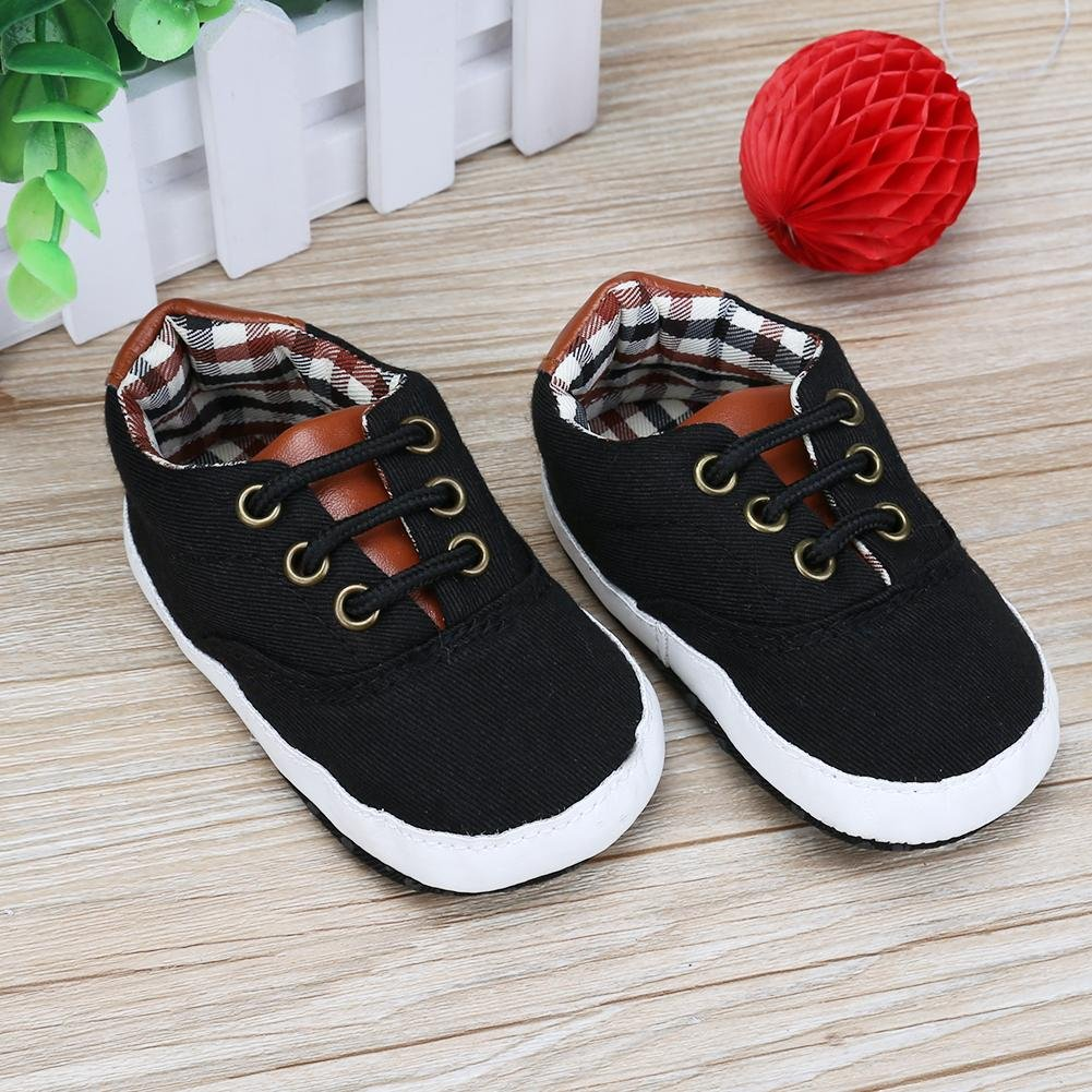 Chinatera Toddler Baby Autumn Winter Spring Canvas Shoes Laces Casual Sneaker Soft Sole First Walker Shoes