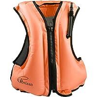 Rrtizan Gonfiabile Portatile Gilet Galleggiante per Adulti, Nuoto, Boccaglio, Nuoto,Surf, Immersioni, Canottaggio, Kayak, Canyoning