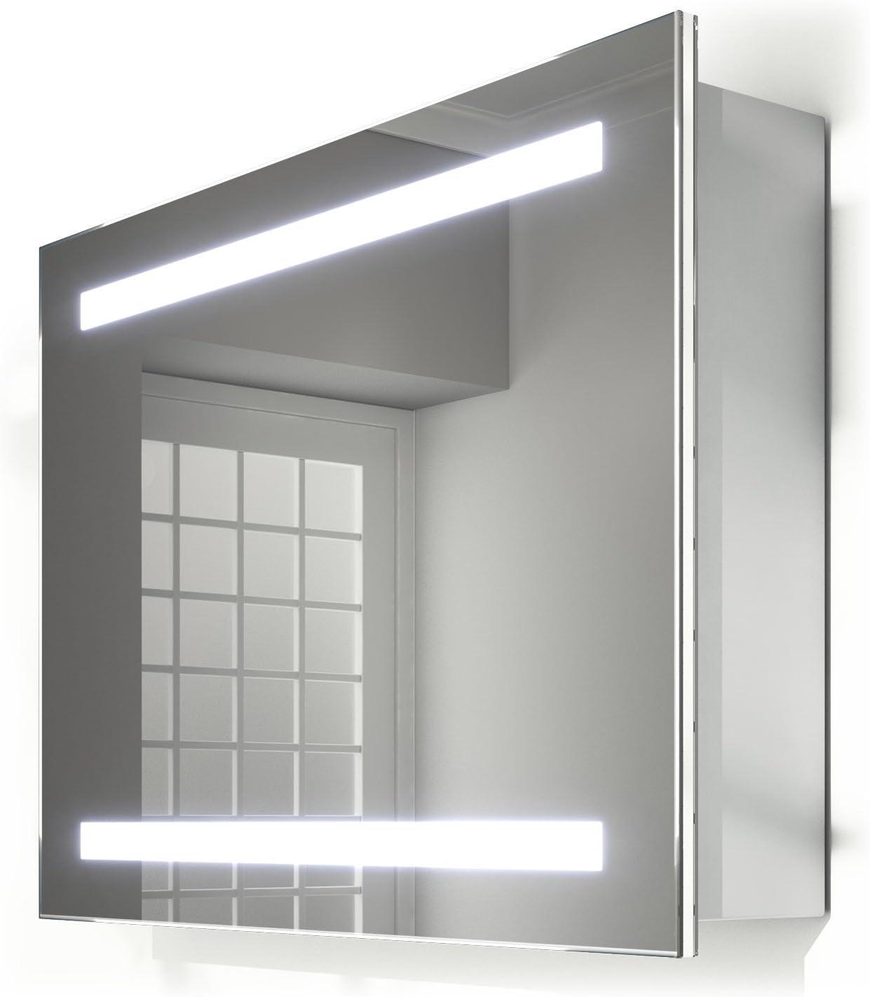 Rae deslizante con puerta de espejo armario de baño con calefactor ...