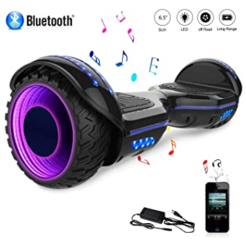 COLORWAY Hover Scooter Board Patinete Eléctrico 700W, con Altavoz Bluetooth y LED, Autoequilibrio de Scooter Eléctrico