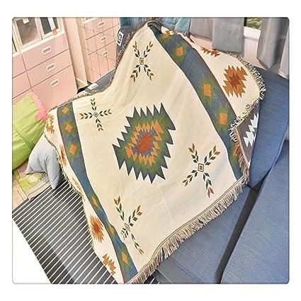 4b3cff8e0 Geometric Tapestry sofa throw blanket woven Jacquard afghans navajo tribal  Aztec Kilim rugs home decor Native American bohemian vintage (50
