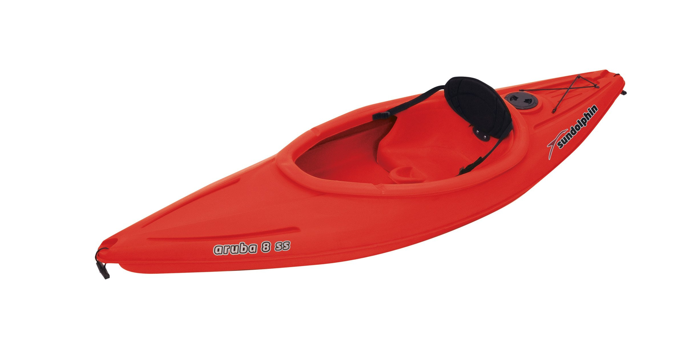 SUNDOLPHIN Sun Dolphin Aruba SS Sit-in Kayak (Red, 8-Feet) by SUNDOLPHIN (Image #1)