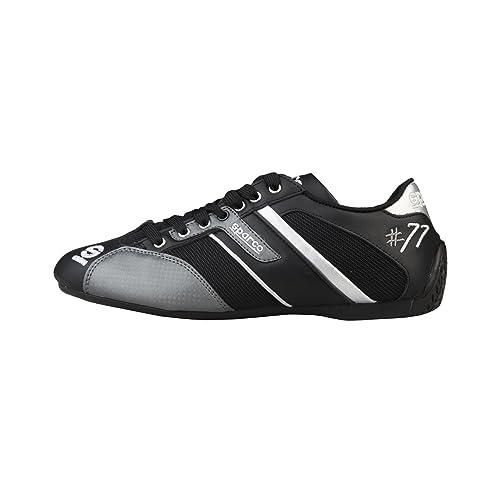 Sparco - Zapatillas de deporte con cordones Modelo Time77 hombre caballero, Negro / Gris, 40 EU: Amazon.es: Zapatos y complementos