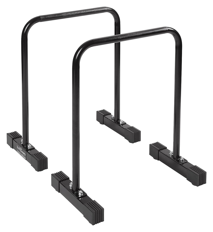 Bad Company Push Up Bar I Freistehende Dip-Station für das Ganzkörpertraining I Parallettes aus Stahl I Dips-Barren – Schwarz