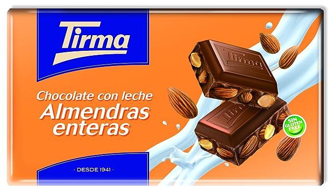 Tirma Chocolate con Leche y con Almendras Enteras - 2 Paquetes de 5 Unidades x 150