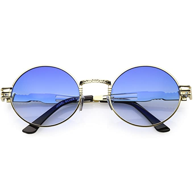 c8f423fce50 sunglassLA - Oversize Oval Round Rapper Sunglasses For Men Women Color  Tinted Lens 60mm (Gold