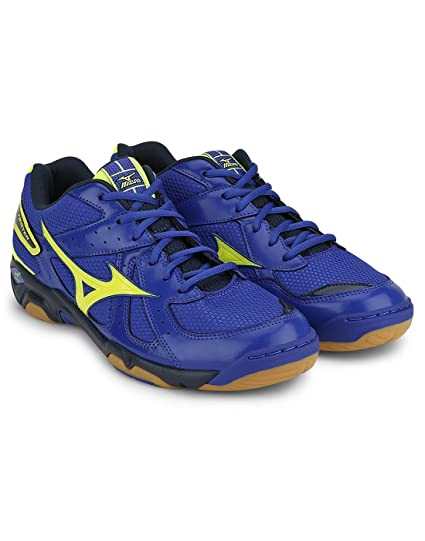 783c750a7315 Mizuno V1GA157045-4 Wave Twister Badminton Shoes, UK 12 (Surf The Web/