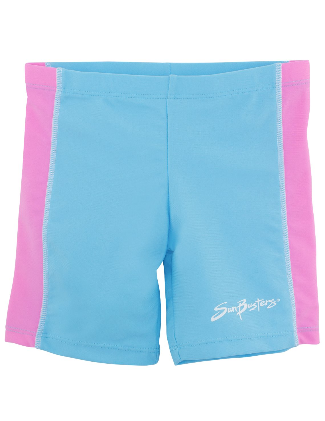 SunBusters Girls Swim Shorts(UPF 50+), Mallow, 8/10 yrs