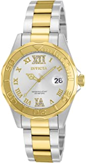 Invicta Womens Pro Diver Quartz Stainless Steel Casual Watch, Color:Silver-