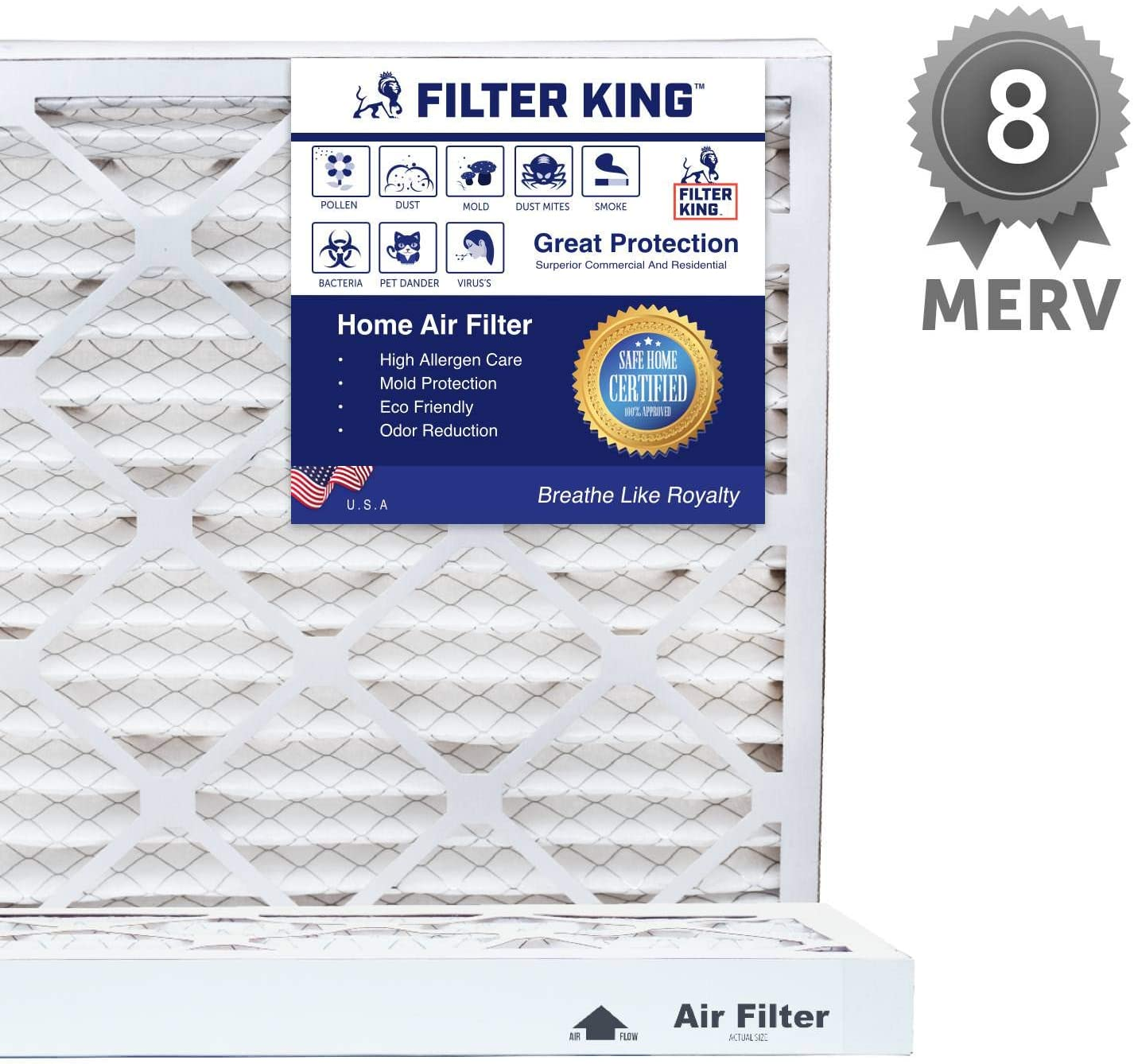 Nordic Pure 12x36x1 Exact MERV 8 Pure Carbon Pleated Odor Reduction AC Furnace Air Filters 1 Pack