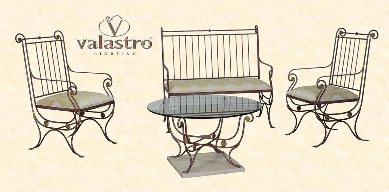 IMPERO VAL20100 - Salotto divano Artistico in Ferro battuto ...