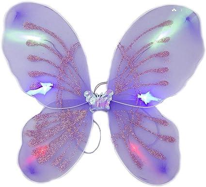 Amazon.com: Blinkee - Alas de mariposa de hadas moradas con ...