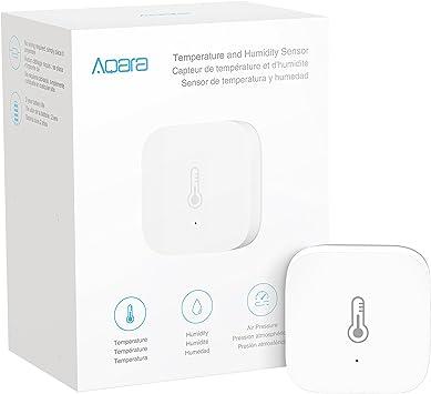 Aqara Smart Home Temperature /& Humidity Sensor Thermometer Hygrometer Digital Sensor Wireless Connection//Automatic Alarm//Detect Atmospheric Pressure Works with Apple HomeKit When Used with Aqara Hub