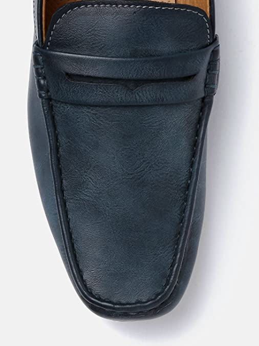 d33dbf3cc13ba Mast & Harbour Men Navy Blue Solid Loafers (9UK): Buy Online at Low Prices  in India - Amazon.in