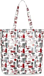 eeedf2bc6e Lulu Guinness London Print Large Laminate Lily Tote Bag RRP £55