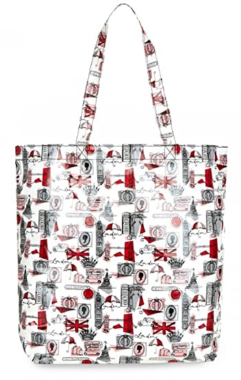 48f463a84b Lulu Guinness London Print Large Laminate Lily Tote Bag RRP £55   Amazon.co.uk  Shoes   Bags