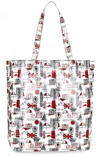 d36813e3d4b3e Lulu Guinness London Print Large Laminate Lily Tote Bag RRP £55  Amazon.co. uk  Shoes   Bags
