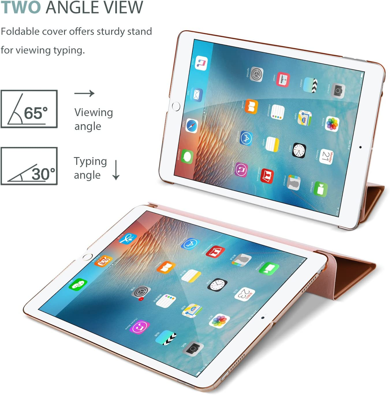 2019 iPad Pro Case 10.5 2017 Ultra Slim Lightweight Stand Smart Case with Translucent Frosted Back Cover with Auto Sleep//Wake Feature ProCase Apple 10.5 New iPad Air Silver 3rd Gen