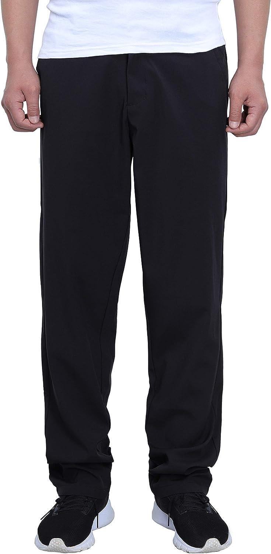 Gmardar Pantalones Hombre Tallas Grandes Pantalon Casual Algodon Pantalones De Trabajo Para Hombre Con Bolsillos Laterales Cinturon Ajustable Ropa Hombre