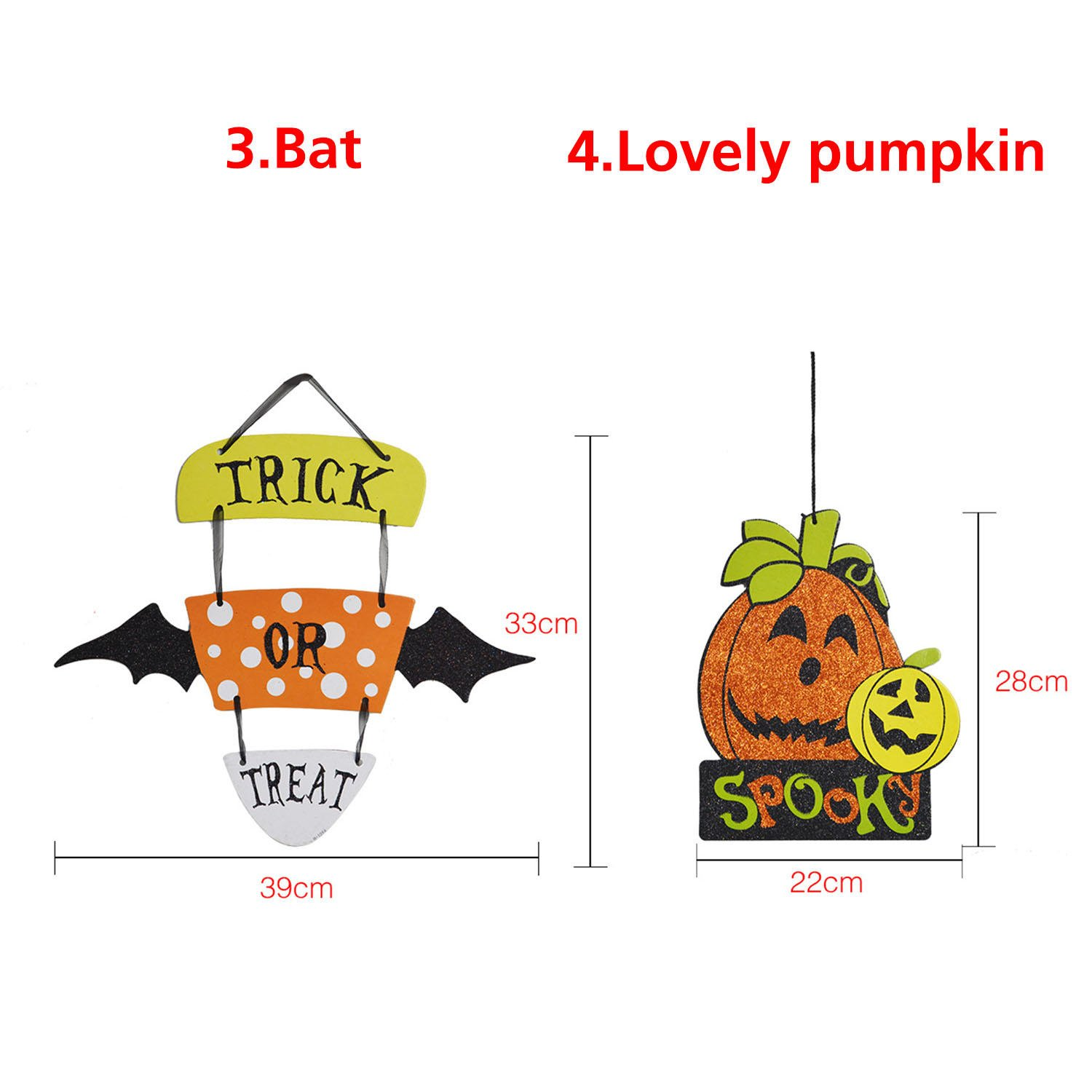 Parody Dangling - Halloween Spoof Hanging Decoration Pumpkin Ghost Skull Witch Door Hanger Supply - Sendup Suspended Pasquinade Charade Wall Mockery Supported Takeoff Lampoon - 1PCs by Unknown (Image #1)