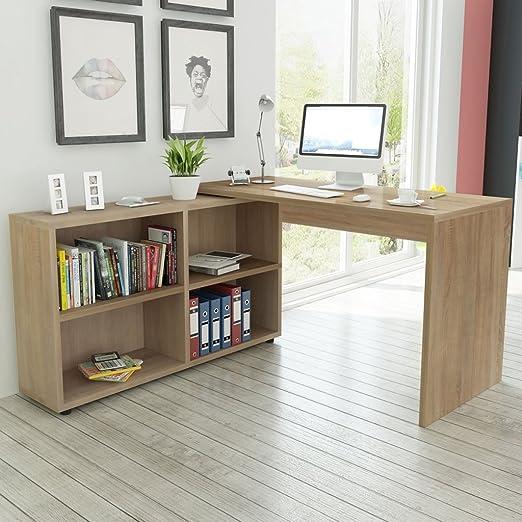 Festnight mueble escritorio para informática en forma de L ...