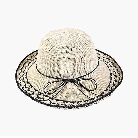 YXINY Viseras Sombrero Sombrero De Paja Cap Sombra De Protección Solar  Sombrero De Playa Sra. d75eeda6f63