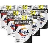 【ケース販売】アタック ZERO(ゼロ) 洗濯洗剤 液体 ドラム式専用 詰め替え 大容量 1280g(約3.7倍分)×6個(衣類よみがえる「ゼロ洗浄」へ)