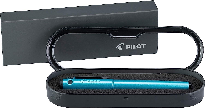 Pilot Explorer Turquoise Blue Metal Fountain Pen Fine F Nib 12286