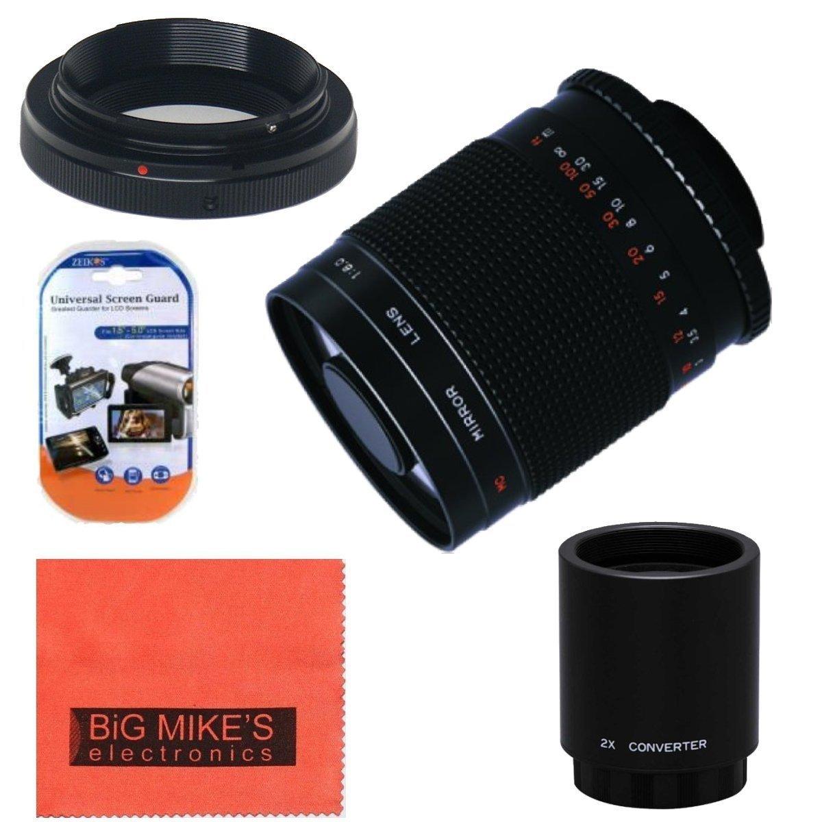 高電力500 mm f/ 8.0望遠ミラーレンズ+ EOS 2 x (Doubles EOS theにズーム1000 III、EOS mm) for CanonデジタルEOS Rebel t1i、t2i、t3、t3i、t4i、t5i、sl1 , EOS 60d, EOS 70d, EOS 80d、50d、40d、30d、EOS 5d、eos1d、eos5d III、EOS 6d、EOS 7dデジタルSLRカメラ B00KN6XEW2, 防災防犯の専門shop岩本商事:dc7ddaf8 --- ijpba.info