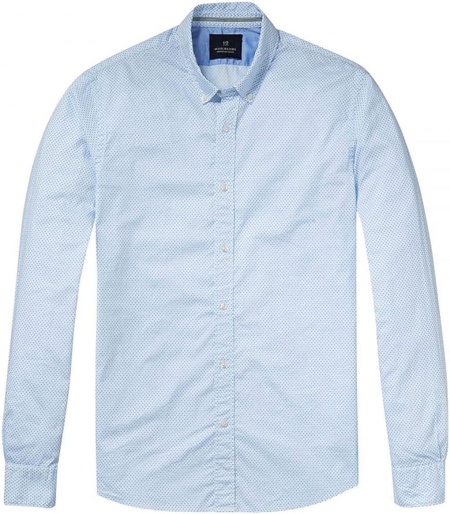 Scotch & Soda Relajado Ajuste Camisa De Manga Larga Clásico Oxford Para Hombre M Combo B: Amazon.es: Ropa y accesorios