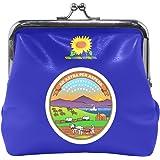Kansas State Flag Coin Purse Mini Leather Hasp Handbag