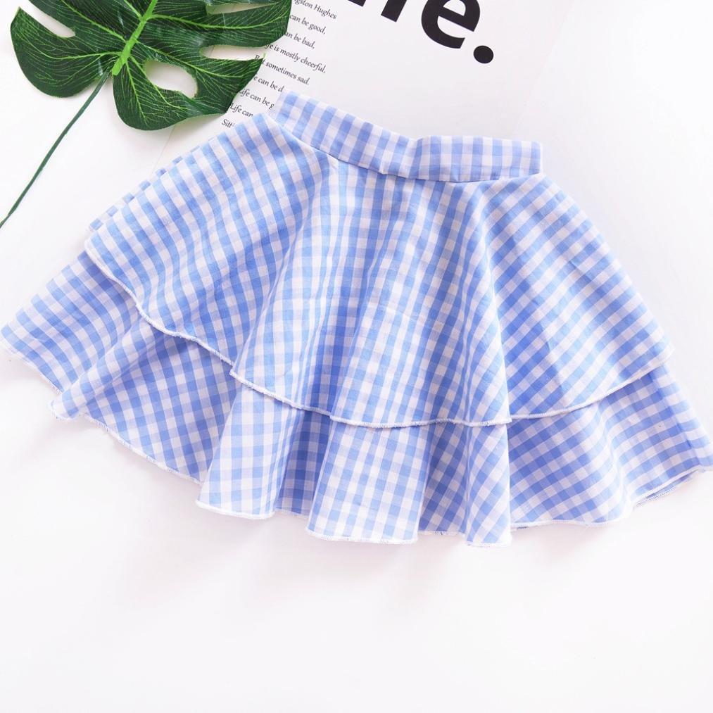 Gonna di garza Vestito da principessa Impostato UOMOGO/® Abito Bambina Ragazze Abiti modello Manica corta T-shirt