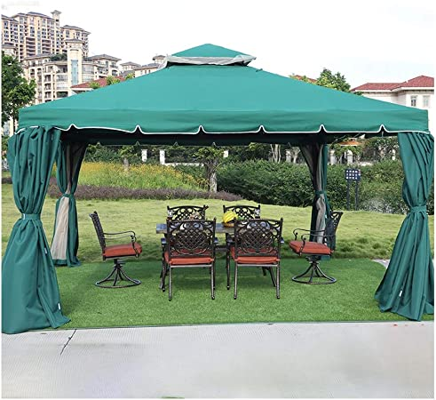 HLZY Gazebo de Muebles de jardín 12x12 FT Jardín Gazebo ...