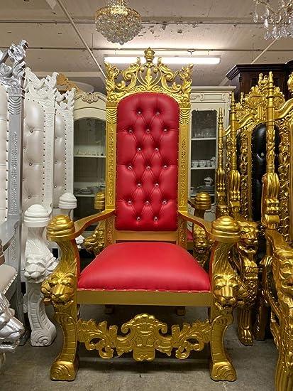 9198f6dfc7db5 King Solomon Royal High Back Lion Throne Chair, King/Queen Wedding Throne  Chair,