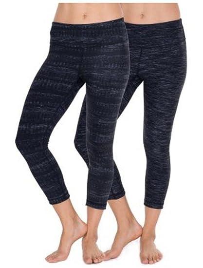 e6c6c345103e08 Active Life 90° by Reflex Ladies Performance Athletic Capri Pants Lightning  Gray (XL)