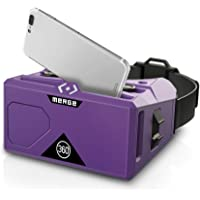 MERGE AR/VR Headset - Augmented and Virtual Reality Goggles, 300+ Experiences, STEM Product, Works with iPhone or Android (Pulsar Purple)
