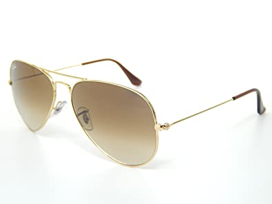 ray ban new aviator  new ray ban aviator rb3025 001/51 arista/crystal brown gradient 58mm sunglasses
