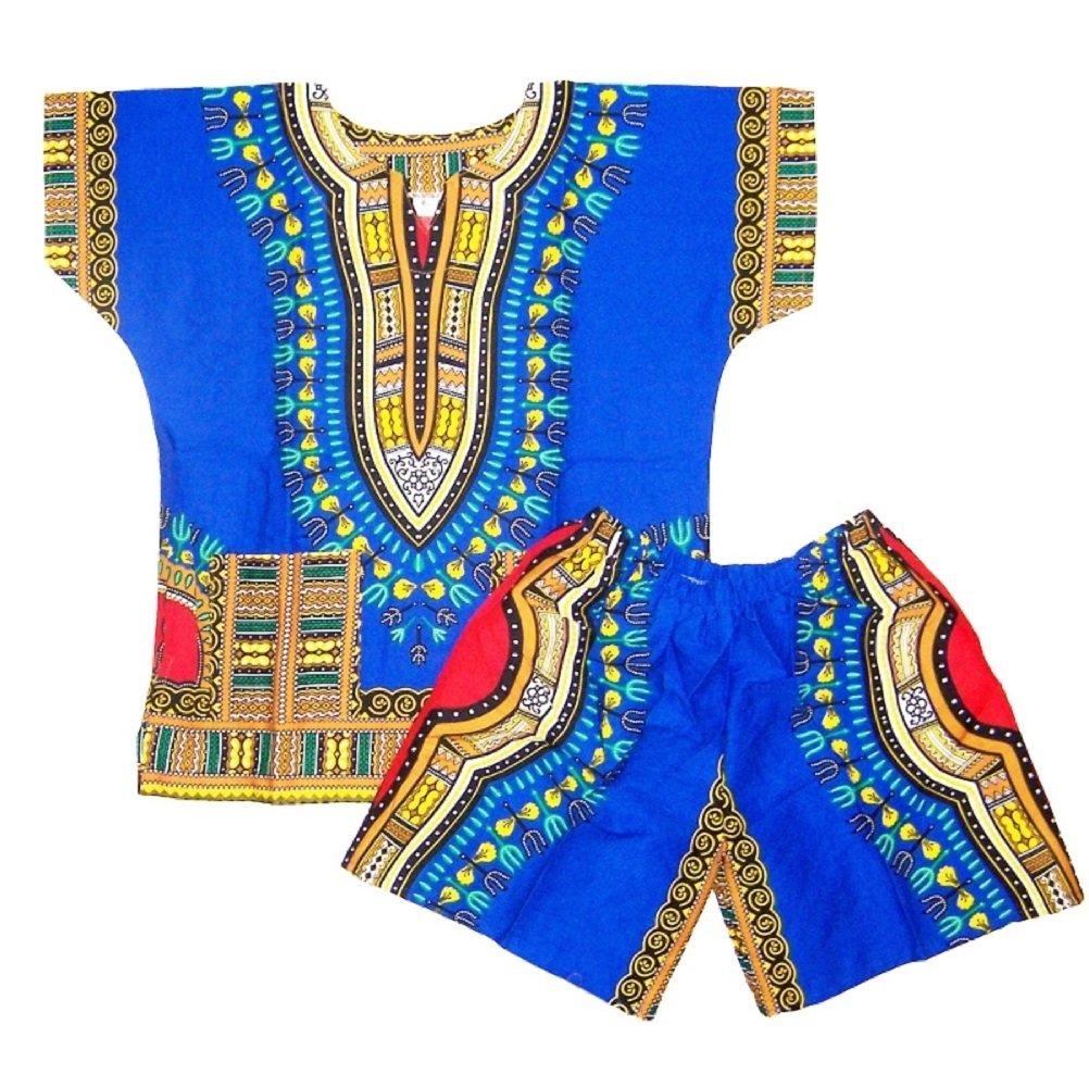 Kids Dashiki Set Baby Dashiki Suit Infant Suits Dashiki Shirts Shorts One Size