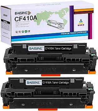 Black Toner Cartridge Compatible For HP CF410A 410A LaserJet Pro M452dn 2 Pack
