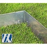 Ecke für Rasenkante Metall 8x8x13,5cm 4er Set Beeteinfassung Wegbegrenzung